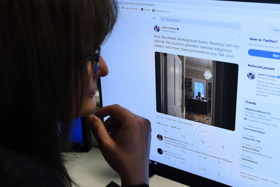 Le premier ministre Justin Trudeau fait le point au sujet de son isolement, à Ottawa, sur son compte Twitter.
