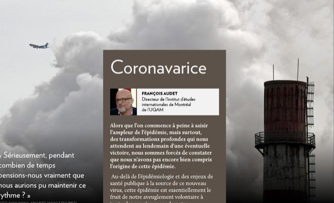 covid19 opinion La Presse