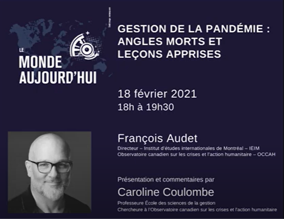 Conférence: Gestion de la pandémie, angles morts et leçons apprises